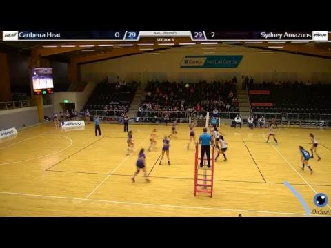 Sydney Amazons v Canberra Heat and Sydney Warriors v Canberra Heat AVL Round 5 2017