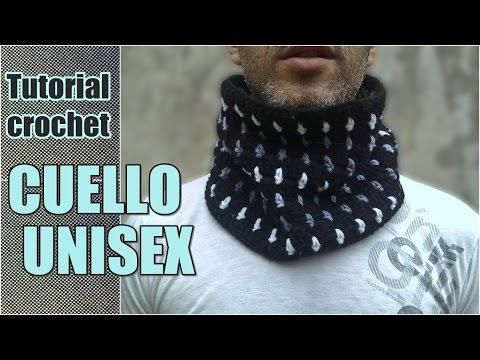 Como tejer cuello bufanda unisex, hombre, mujer a crochet, ganchillo en punto bloques PASO A PASO , YouTube