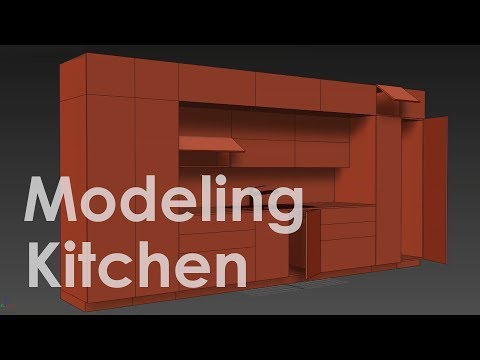 3ds Max Modeling Kitchen Tutorial Part 01