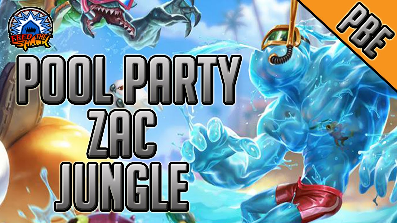 League Of Legends Pool Party Zac Jungle Full Game Commentary