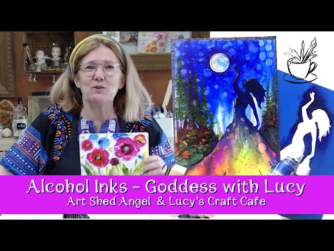 Alcohol inks ( Goddess of the moon) by Live Art Journaling and Self Development thumbnail