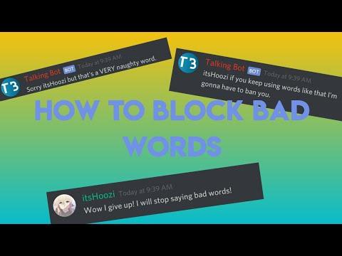 How to ban bad words - DISCORD BOT DESIGNER