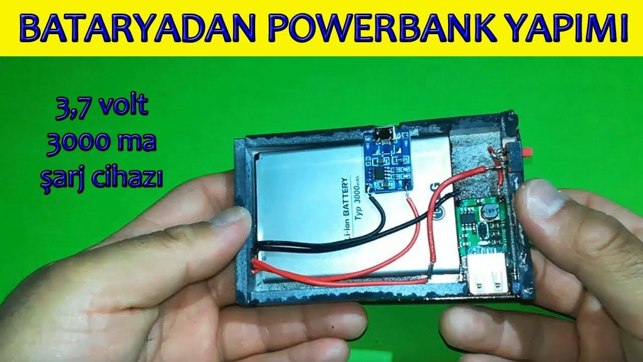 Cep Telefonu Bataryası ndan POWERBANK Yapımı (evde kendin yap şarj aleti)