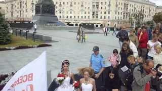 Парад НЕВЕСТ - 2013 в Минске! 16ч.(19). Беларусь! Parade of Brides - 2013 in Minsk!