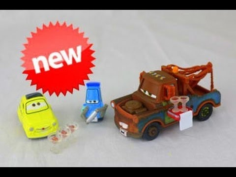 Disney Pixar Cars LUIGI /& GUIDO WITH SHAKER AND GLASSES 1:55 New 2013