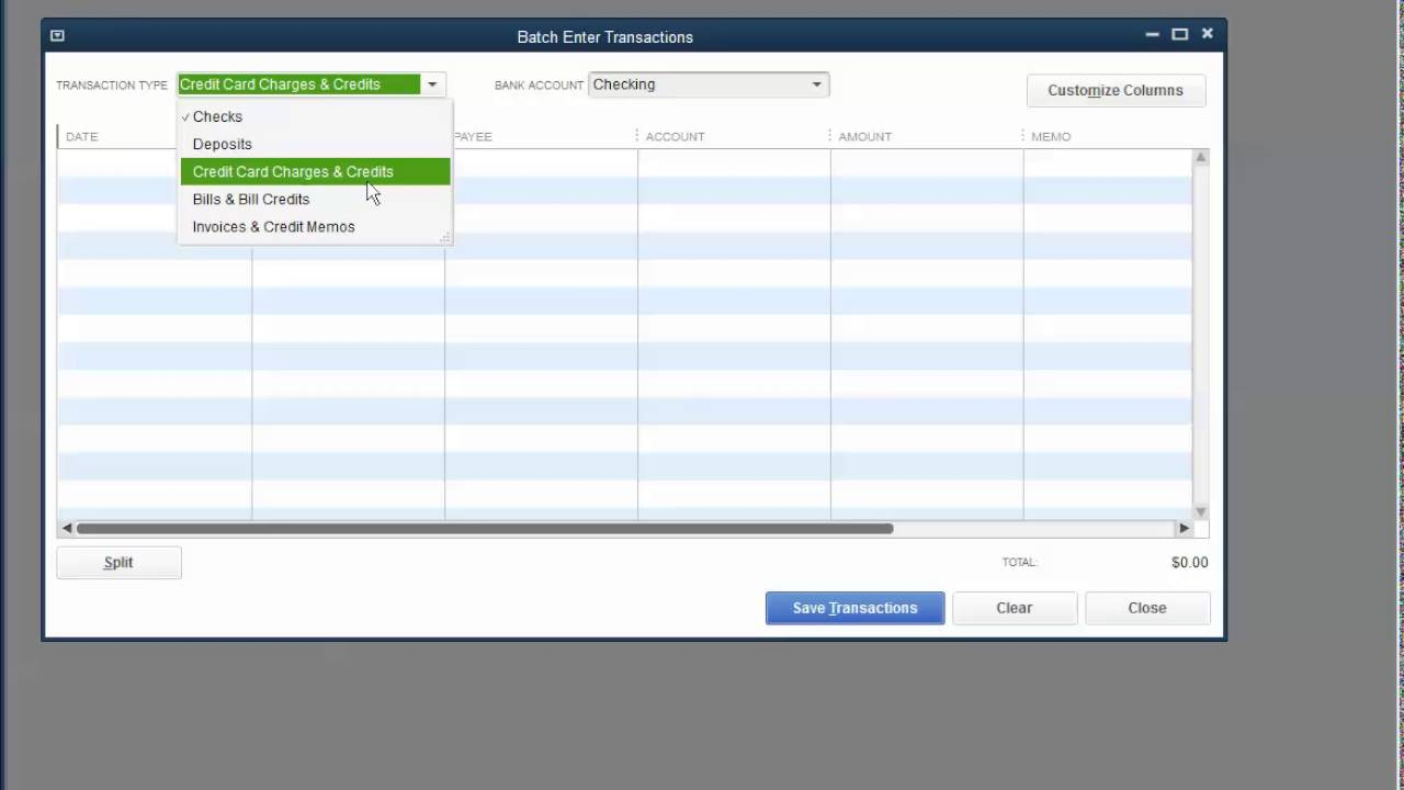 Import American Express credit card notes into QuickBooks