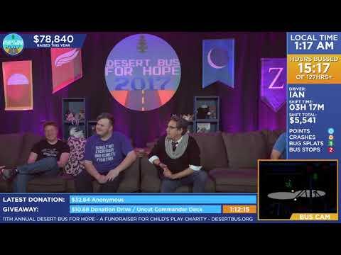 DB2017 - Cam explains why Zeta is the Dark Souls of Desert Bus shifts