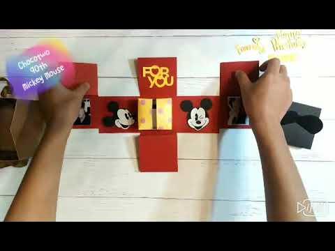 米奇 米老鼠 愛心展開盒 機關卡片 生日卡片 生日禮物 情人禮物 畢業禮物 聖誕禮物 彌月禮 求婚禮物 新年禮物 ...