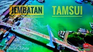 Download lagu Tamsui Lover s Bridge Kota New Taipei Taiwan MP3
