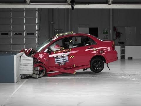 2002 Suzuki Aerio Moderate Overlap IIHS Crash Test