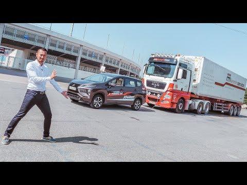 Nghịch Dại - Lấy Xpander số sàn kéo xe Container 35 Tấn và... Ớ Hợ - XEM XE