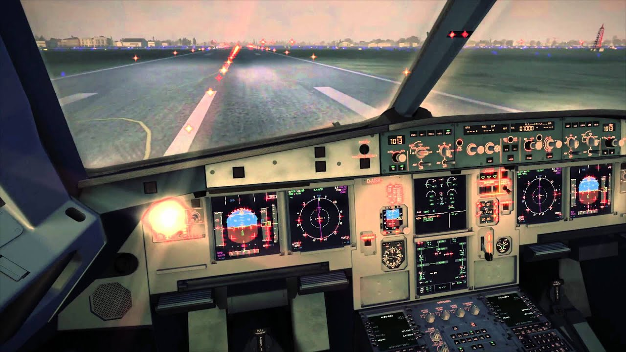 Fsx Wallpaper Hd Fsx Airbus A321 Landing Cockpit Youtube