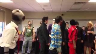 Thriller video at office