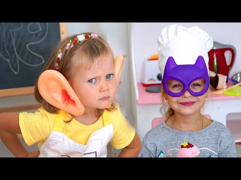 Margo and mom Pretend Play with Toys | Baby Nastya  play in cafe Copilation video for kids