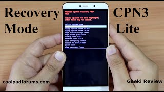 Coolpad note 3 lite  - How to Enter Recovery Mode - by geeki review