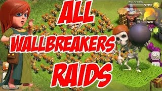 Clash of clans | Mass wall breaker attacks 3 star | Mass attacks episode #1 | 100 wall breakers