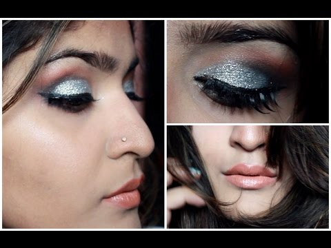 Silver Glitter Smokey Eyes Tutorial
