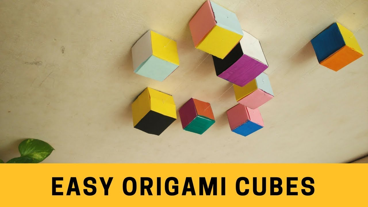 how to make an easy origami cube step by step method. Black Bedroom Furniture Sets. Home Design Ideas