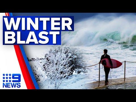 Wild weather blasts NSW, dumps snow   9 News Australia