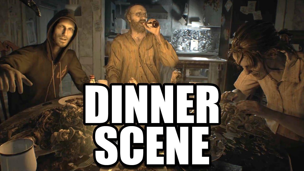 Resident Evil 7 Baker Family Dinner Table Scene Youtube