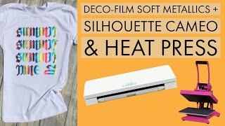 Cut & Apply Deco-Film Soft Metallics Using a Silhouette Cameo & Heat Press