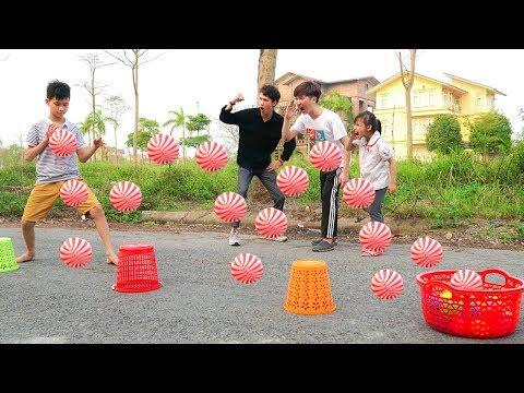 Kids Go to School Play Game Team Building Activities! Kinderlieder Und Lernfarben