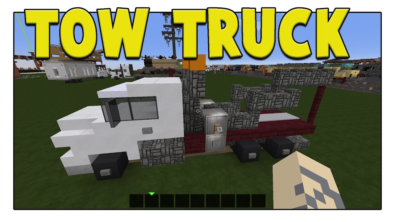 How To Build A Tow Truck In Minecraft