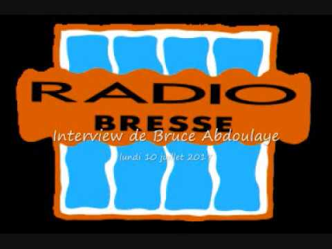 interview Bruce Abdoulaye sur Radio Bresse le 10 juillet 2017