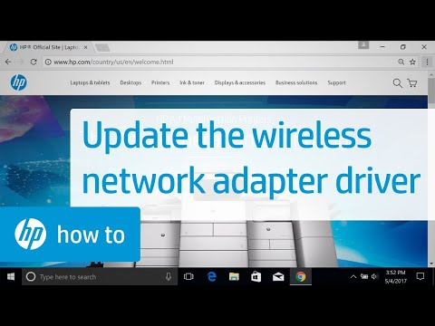 Updating the Wireless Network Adapter Driver with Windows