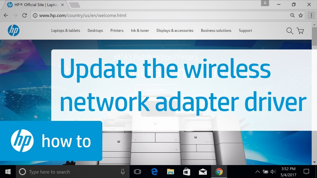 Updating the Wireless Network Adapter Driver with Windows Device Manager |  HP Computers | HP
