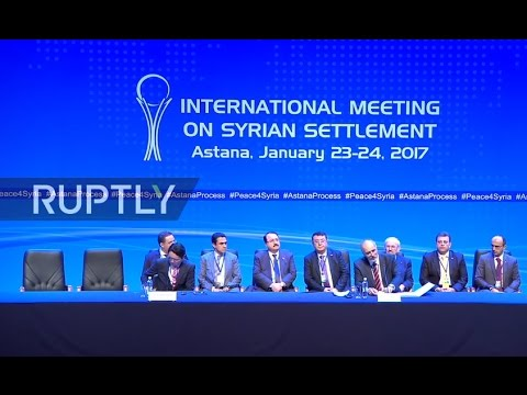 LIVE: Syria talks in Astana: statement by Jaafari and de Mistura
