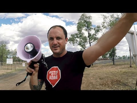 Fly on the wall documentary of Greens MPs tour of the proposed Adani coal mine in Queensland