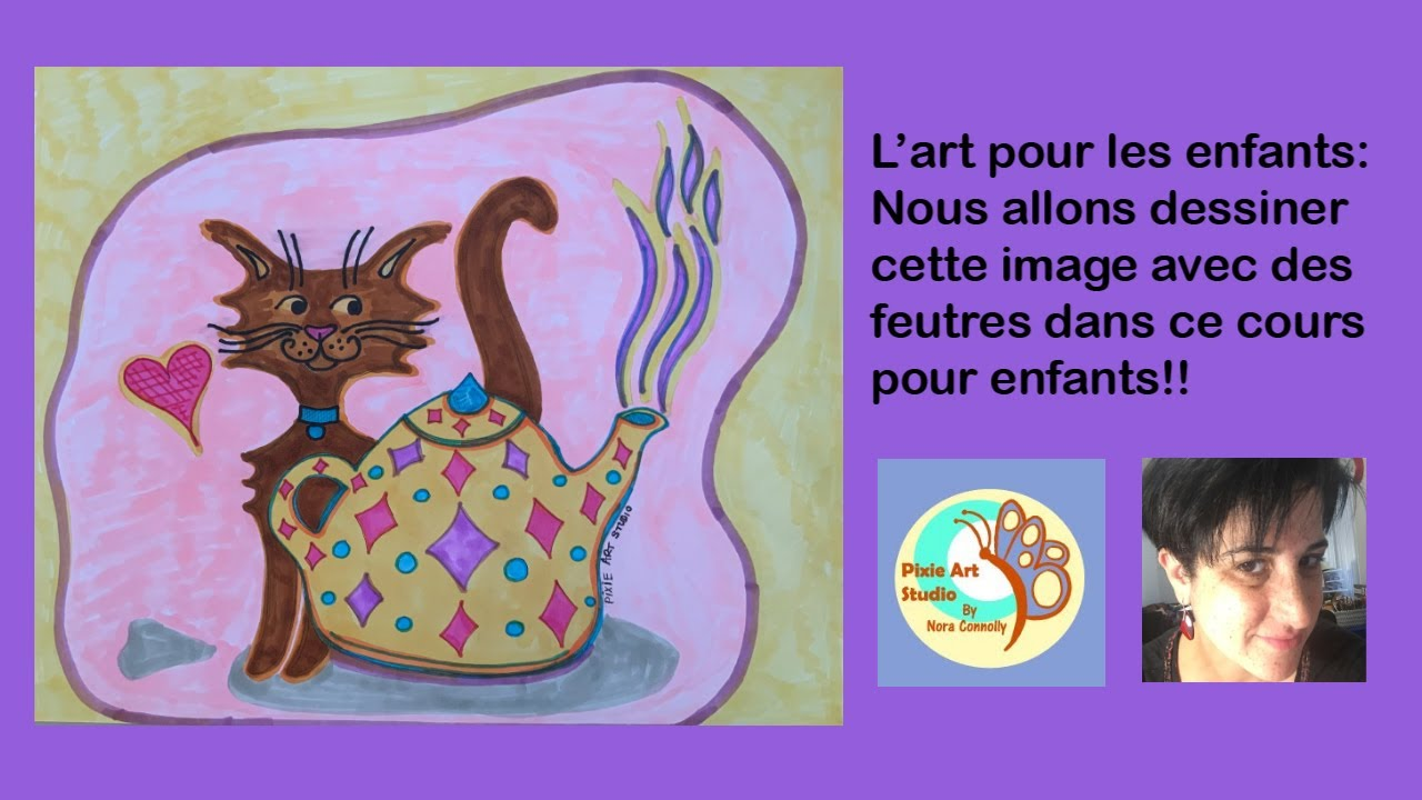 Pixie's Newest children's art class in French!