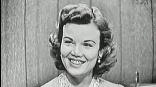 What's My Line? - James Kilgallen [Dorothy's father!]; Nanette Fabray (Nov 18, 1956)