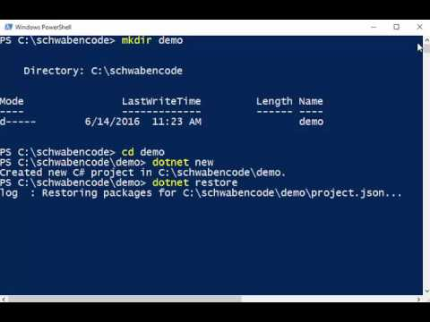 Create  NET Core Applications within seconds via CLI (PowerShell)