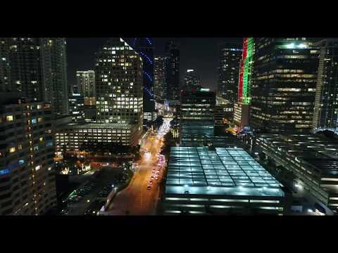 Downtown Miami - Drone Night Flight - Phantom 4 Pro - 4K