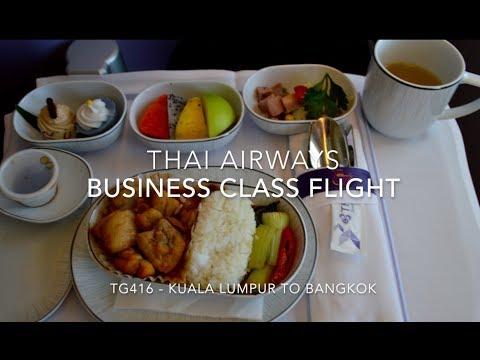 THAI Airways BUSINESS CLASS Flight from Kuala Lumpur - Bangkok