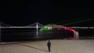 광안리 밤바다 레이저 분수 쇼