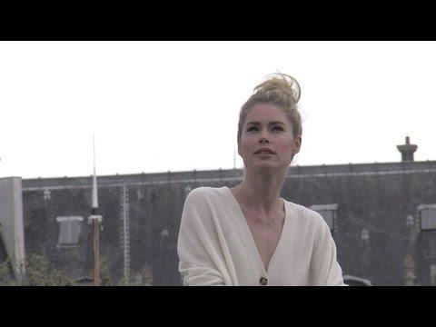 EXCLUSIVE: Gorgeous Doutzen Kroes in action for a commercial in Paris