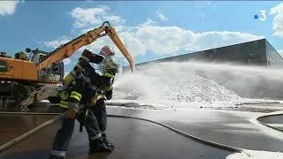 Un important incendie dans une entreprise de récupération de déchets