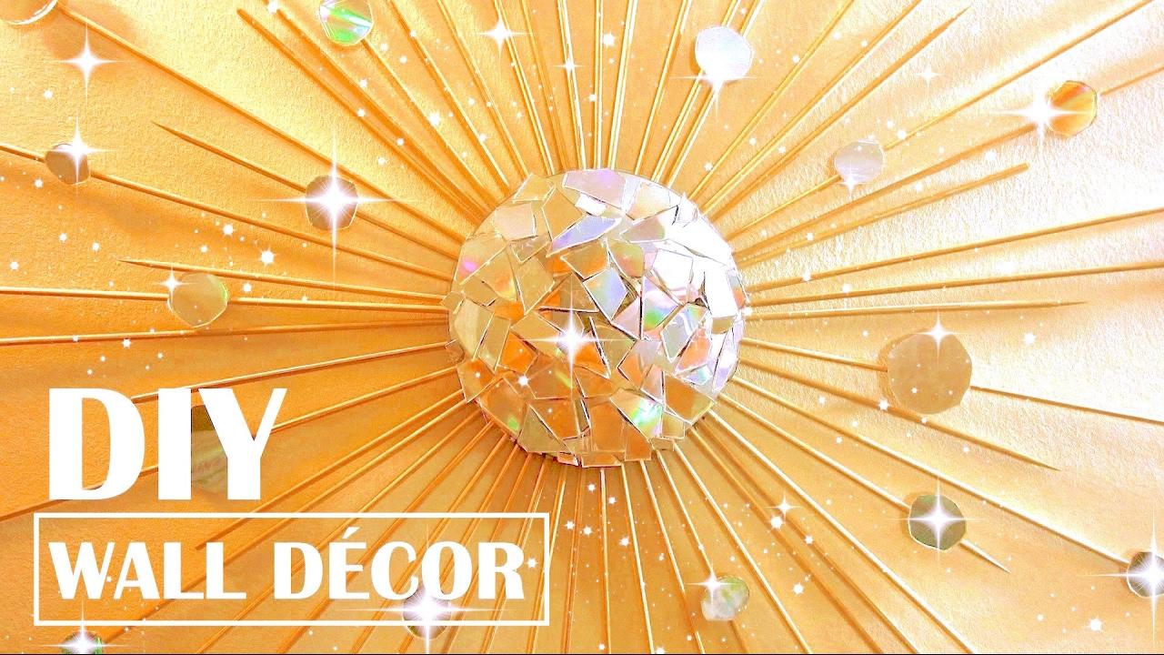DIY Wall Decor Starburst Mirror - YouTube