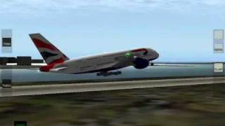 Airbus A380 landing at JFK Airport in X-Plane