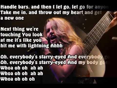 bridgit mendler starry eyed karaoke acoustic version (ellie goulding song)