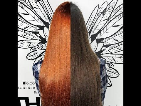 Яркое окрашивание натуральных волос красителем JOICO VERO K-PAK COLOR