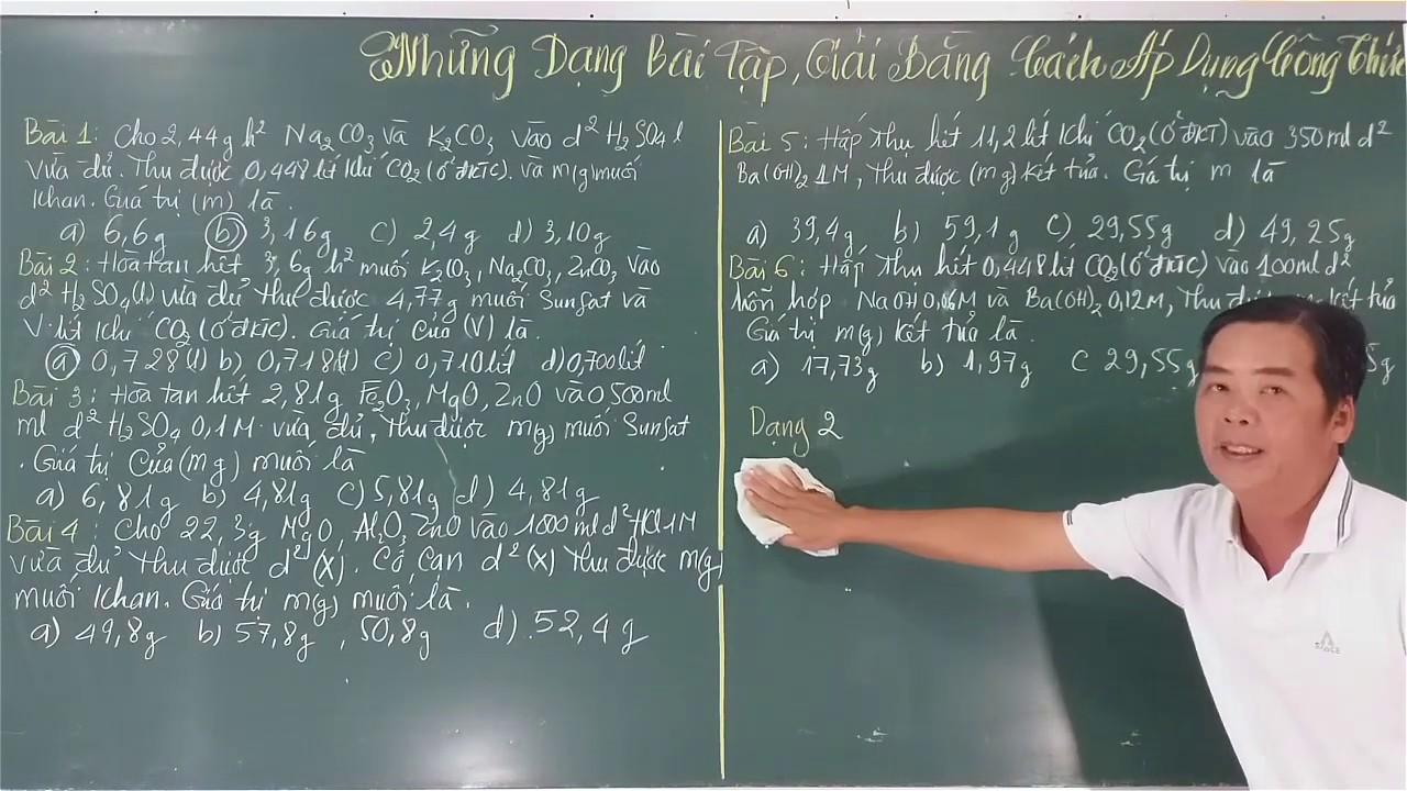 Giải Bài Tập Hóa Học Bằng Cách áp Dụng Công Thức Tinh.(Tập 2)-Em Yêu Hóa Học