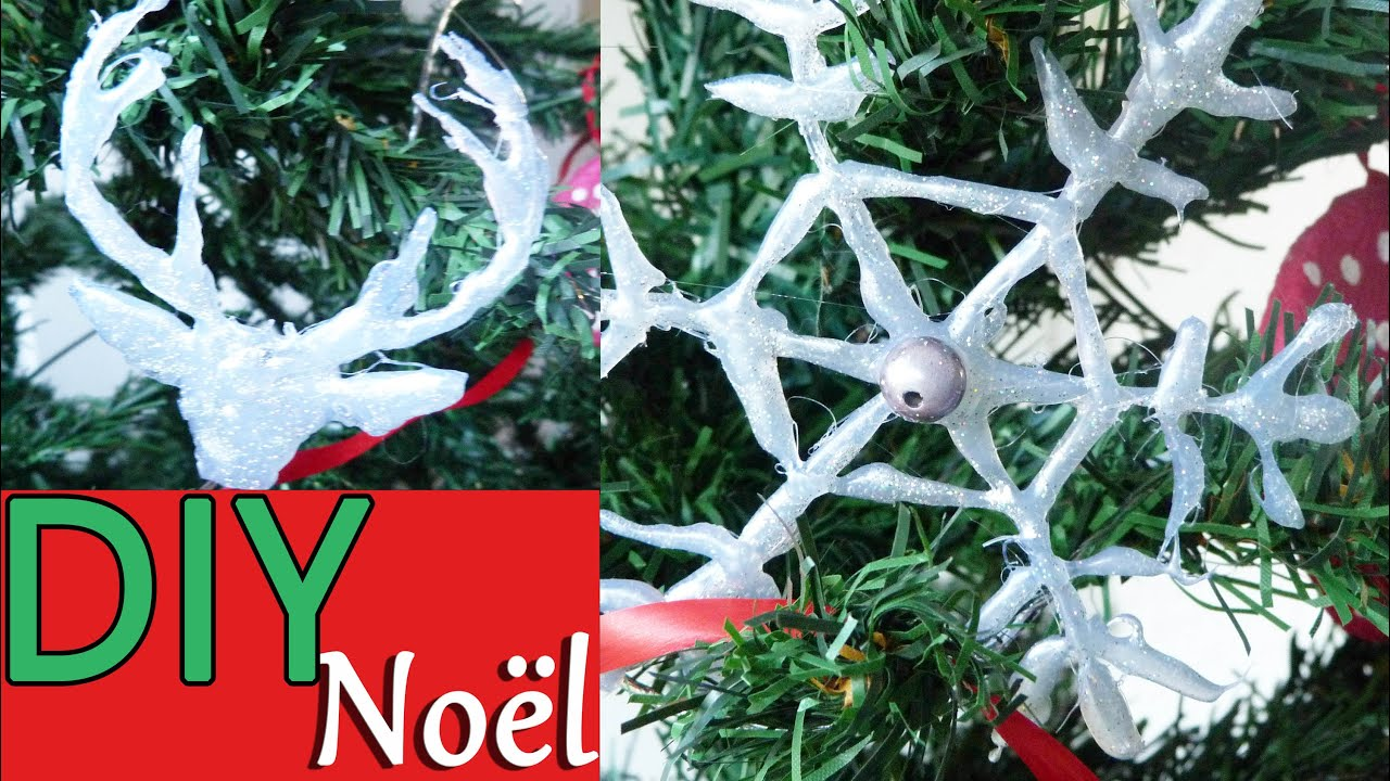 Diy d coration de no l t te de renne et flocon de for Youtube decoration de noel