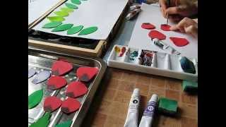 Foampaper coloring - как окрасить фоамиран. Мастер класс.(, 2014-12-12T09:38:04.000Z)