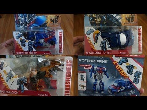 Transformers 4 the Movie Toys: Optimus Prime, Grimlock & Autobot Drift