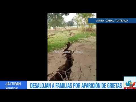 Reportan grietas en el suelo en Jáltipan Veracruz tras terremoto del jueves Video
