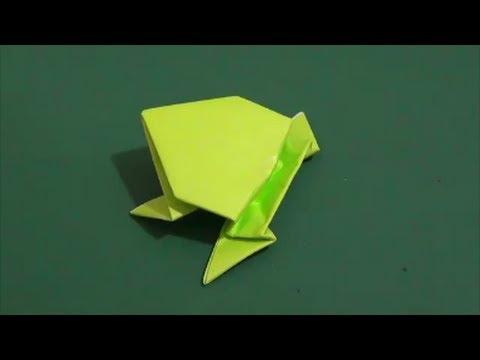 ハート 折り紙:カエルの折り紙-youtube.com